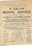 Affiche Ministère Agriculture 1926 / PARIS / Salon Machine Agricole / Expo Matériel Et Outillage / Foire De Semences - Agriculture