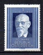 Austria 1948 Karl Renner Mint Mnh Tu - 1945-.... 2ª República
