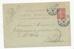 Entier Postal Sur Carte Postale, 10c , PARIS XIV ,  AV. D'ORLEANS ,1905 - Entiers Postaux
