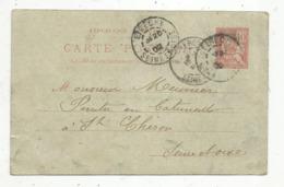 Entier Postal Sur Carte Postale, 10c , ETRECHY ,  SEINE ET OISE ,1902 - Entiers Postaux