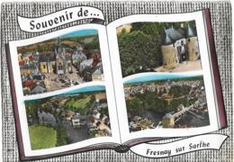 D72 - FRESNAY SUR SARTHE-SOUVENIR DE ...FRESNAY SUR SARTHE-CPSM Dentelée Colorisée Multivues 4 Clichés En Forme De Livre - France