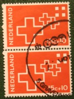 PAAR 15 + 10 Ct Rode Kruiszegels Red Cross Rotes Kreuz NVPH 890 (Mi 884) 1967 Gestempeld / USED NEDERLAND / NIEDERLANDE - Gebraucht