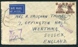 Ww2 GB India O.A.S. Censor Airmail Cover - West Way, Bournemouth. Snelling - Storia Postale