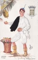 EMBROIDERED SILK MADERIA COSTUME CARD - Madeira