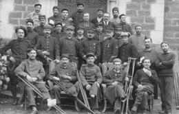 71 - Paray-le-Monial - Carte Photo - Belle Pose Des Rescapés De La Grande Guerre - Paray Le Monial