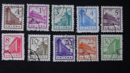 China - 1964/65 - Mi:CN 846,847,849-56 O - Look Scan - Usados