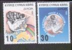 CEPT Frieden Und Freiheit Zypern 854 - 855  ** Postfrisch, MNH, Neuf - Europa-CEPT