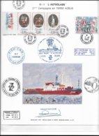 """CA4 - TAAF Encart Philatélique M/v """"L'ASTROLABE"""" - LE HAVRE 10.10.89 Et Arrivée TERRE ADELIE 3.12.1989 Sur PA108 - - Terres Australes Et Antarctiques Françaises (TAAF)"""