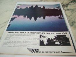 ANCIENNE PUBLICITE DECOUVERTE DES PAYS   UTA 1966 - Advertisements