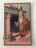 Carte Postale Ancienne   St-Nicolas En Relief Avec Paillettes - Nikolaus