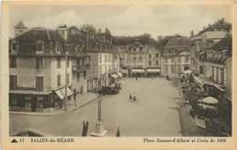 /!\ 8268 - CPA/CPSM 64 - Salies De Béarn : Place Jeanne D'Albret - Salies De Bearn
