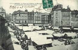 /!\ 2507 - CPA/CPSM 87 - Limoges : Marché Place De La Mothe - Limoges