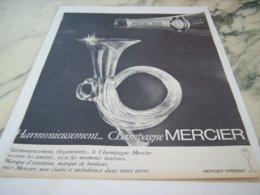ANCIENNE PUBLICITE HARMONIEUSEMENT CHAMPAGNE MERCIER 1966 - Alcohols