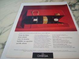 ANCIENNE PUBLICITE POUR FEMME  MONTRE OMEGA 1966 - Juwelen & Horloges