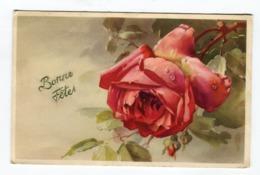 Carte BONNE FETES Rose - Other