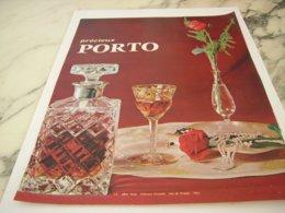 ANCIENNE PUBLICITE PRECIEUX  LE PORTO 1966 - Alcohols