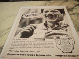 ANCIENNE PUBLICITE UN ETUDIANT RATP  VOUS DIT PAUSE CAFE 1966 - Posters