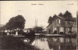 Cp Fains Lothringen Meuse, L'Ecluse, Schleuse - Francia