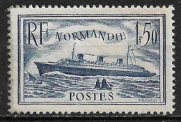 1935 FRANCE Steamship Normandie UNUSED STAMP (Scott # 300) CV $29.00 - Frankreich