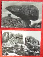 Lot 2 CPSM DOLMEN & MENHIR Touls-Saint-Croix Pierres Jaunâtres Tarann Et Teutatès La Creuse Pittoresque - Dolmen & Menhirs