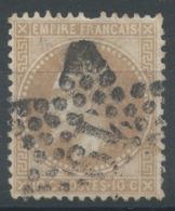 Lot N°51209  N°28B, Oblit étoile Chiffrée 19 De PARIS (R.d'Angoule-du-Tple) - 1863-1870 Napoleone III Con Gli Allori