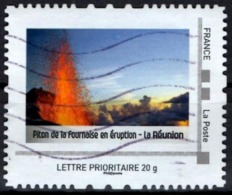 FRANCE Montimbramoi Personalized Stamp Piton De La Fournaise Volcan Mountain Vulcano Vulkan Vulkaan Volcano - Volcans