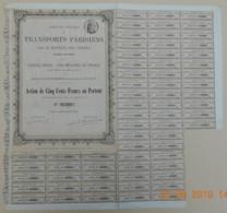 ACTION - Cie Gle Des TRANSPORTS PARISIENS Par Le Matériel Des Omnibus Du 17 Octobre 1876 - Chemin De Fer & Tramway