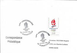 Fdc France 27/1/2002 Albertville,n°2632 Yt, 10 Ans Des Jeux Olympiques D'albertville, Flamme Olympique - FDC