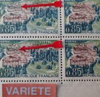 R1591/465 - 1963 - VITTEL - BLOC N°1393 TIMBRES NEUFS** - VARIETE ➤➤➤ Gris-vert Au Lieu De Marron (toits) - Variétés Et Curiosités