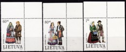 Litauen, 1993, 537/39, MNH **,  Trachten - Lituania