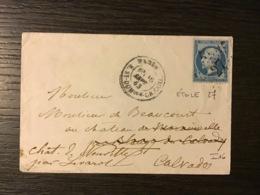 N°22 ÉTOILE 27 + PARIS  R. ST-DOMque-GR.CAILL. / Lettre (1863).SEINE. TTB - Marcophilie (Lettres)