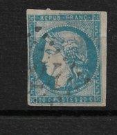 France N°44A 2°choix (aminci) Cote 800€. - 1870 Emission De Bordeaux
