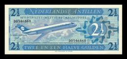 Antillas Holandesas Netherlands Antilles 2 1/2 Gulden Douglas DC-9-15 1970 Pick 21 SC UNC - Antille Olandesi (...-1986)