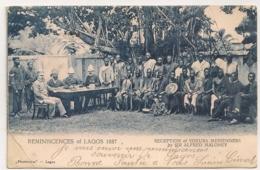 LAGOS RECEPTION OF YORUBA MESSENGERS BY SIR ALFRED MALONEY / REMINISCENCES OF LAGOS 1887  B909 - Nigeria