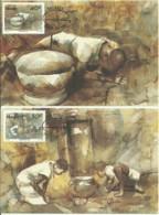 Carte Maximum - Venda - 4 Maximum Cards - Paintings Of Local Art - Venda