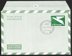 ISRAEL Aerogramme I£.35 Bird 1964 Tel Aviv Cancel! STK#X21273 - Airmail