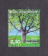 Bosnia And Herzegovina Croatian (Mostar) 2007 Day Of Trees Sorbus Domestica Used - Bomen
