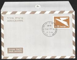 ISRAEL Aerogramme I£.25 Bird 1964 Tel Aviv Cancel! STK#X21274 - Airmail