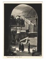 963 - TAORMINA MESSINA TEATRO GRECO ANIMATA 1940 CIRCA - Altre Città
