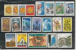"""Année Complète 2002. Nouvelle Monnaie €,  20 Timbres Neufs ** (inclus Série Complète """"Légendes Andorranes"""",etc) - Frans-Andorra"""
