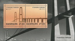 "DINAMARCA /DENMARK /DÄNEMARK  -EUROPA 2018 - ""PUENTES.- BRIDGES - BRÜCKEN - PONTS"".- SOUVENIR SHEET-SOLD OUT In ORIGIN - 2018"