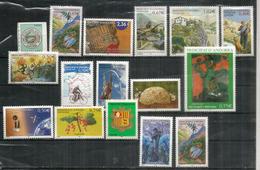 Année Complète 2003, 16 Timbres  Neufs **  Tour De France,saut à La Perche,groseilles,Gaughin,etc - Frans-Andorra