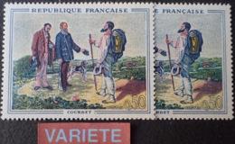 R1591/467 - 1962 - COURBET - N°1363 NEUFS** - VARIETE ➤➤➤ Sol Jaune Vif (timbre Gauche) - Variétés: 1960-69 Neufs