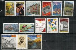 Année Complète 2004, 13 Timbres  Neufs **  Olympics Athens,Conseil De L'Europe,Code Postal Andorran,etc - French Andorra