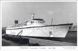 FINNSTAR  PAQUEBOT FINLANDE  16.5..80  PHOTO MARIUS BAR TOULON - Steamers