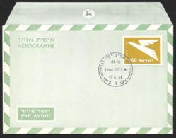 ISRAEL Aerogramme I£.40 Bird 1966 Tel Aviv Cancel! STK#X21276 - Airmail