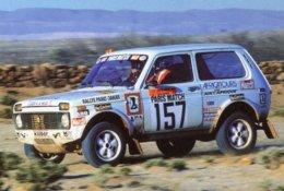Lada Niva  -  Pilote: Jean-Claude Briavoine - Rallye Paris-Dakar 1981  -  PHOTO (15x10cms) - Rallyes