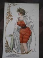 Carte Postale Ancienne,mode,formaliste,très Bon état,non écrite - Moda