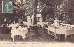 76 - GONNEVILLE LA MALLET : Hotel AUBOURG Salle Verte - CPA Village (1.350 Habitants) - Seine Maritime - France