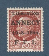 037- Timbre Libération - Annecy - 1944 - Libération